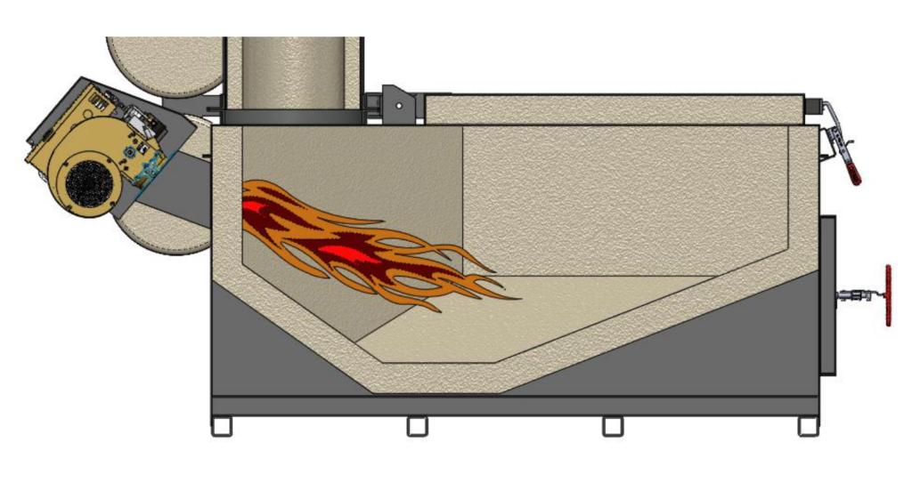 Firelake Pet Incinerator C19-600 Primary Chamber layout